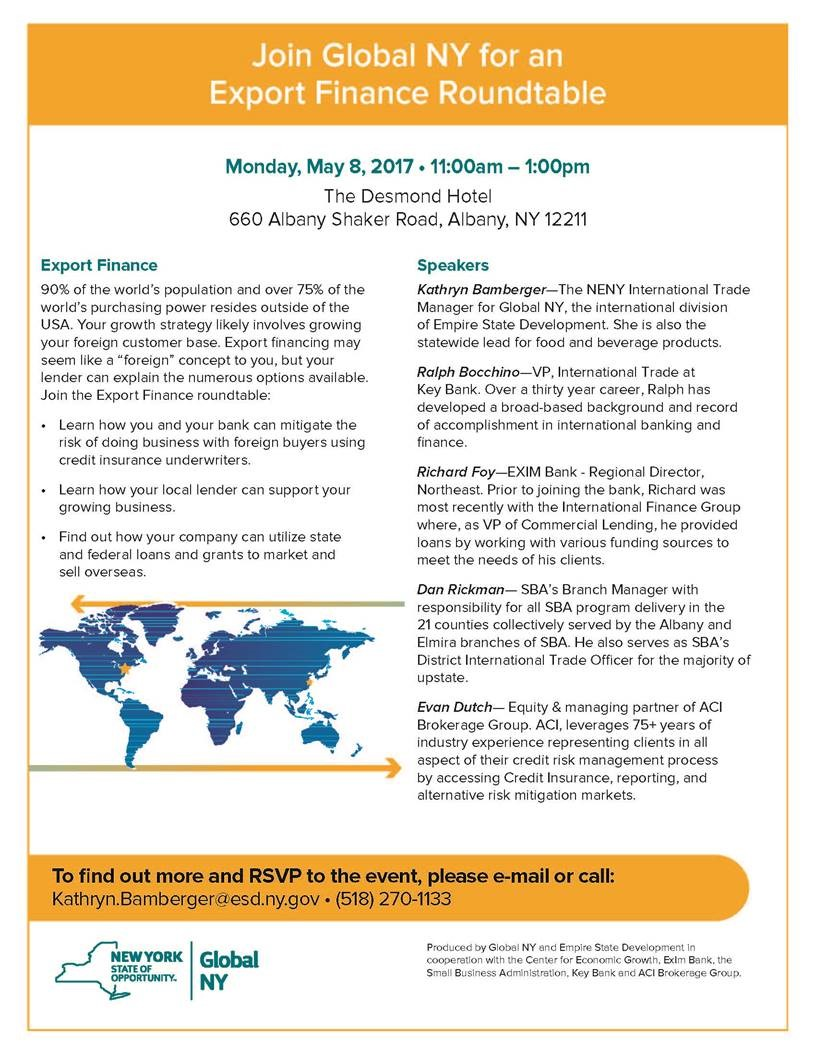 join global new york for an export finance roundtable - cdrpc