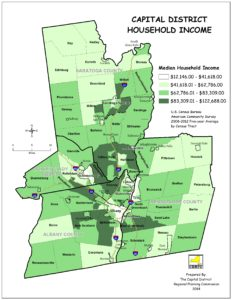 Capital District Median Household Income