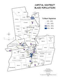 Capital District 2010 Percent Black Population