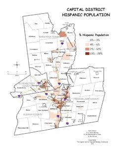 Capital District 2010 Percent Hispanic Population