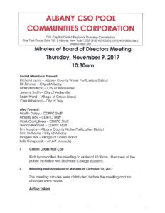 17 11 09 corporation board meeting minutes cdrpc